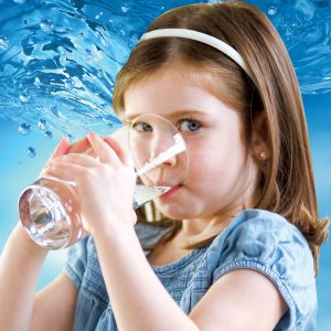 puronics girl drinking water